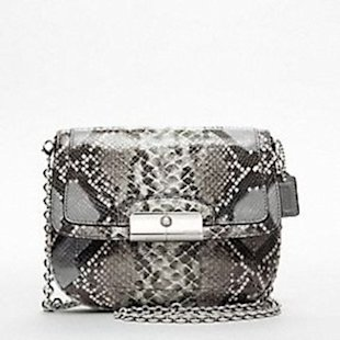 Coach Kristin embossed python crossbody bag, $238