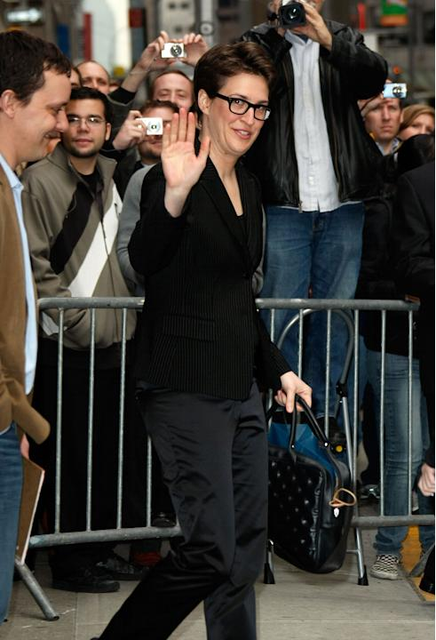 "MSNBC's ""The Rachel Maddow Show"" host Rachel Maddow in a sleek suit"