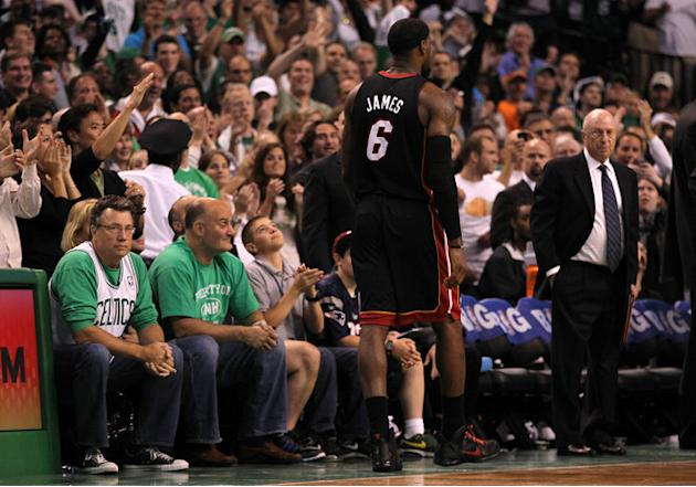 LeBron James #6 Of The Miami Heat Walks Getty Images