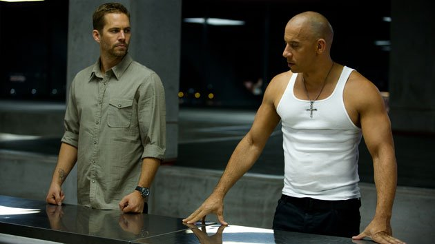 Paul Walker and Vin Diesel in 'Fast & Furious 6'
