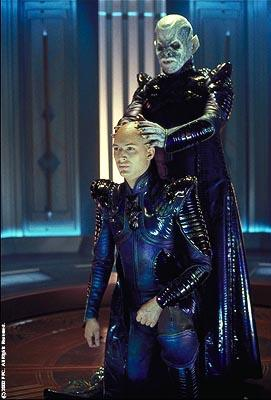Tom Hardy as Shinzon and Ron Perlman as his Reman Viceroy in Paramount's Star Trek: Nemesis