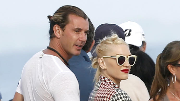 EXCLUSIVE: Gwen Stefani and husband Gavin Rossdale hanging out at a beach house party in Malibu, California