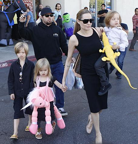 Angelina Jolie Takes Kids Halloween Costume Shopping in L.A