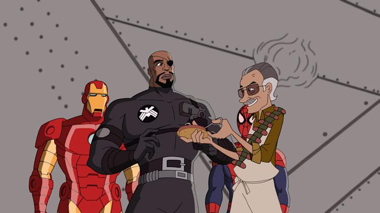 IRON MAN, NICK FURY, STAN LEE