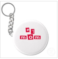 #1 mom keychain