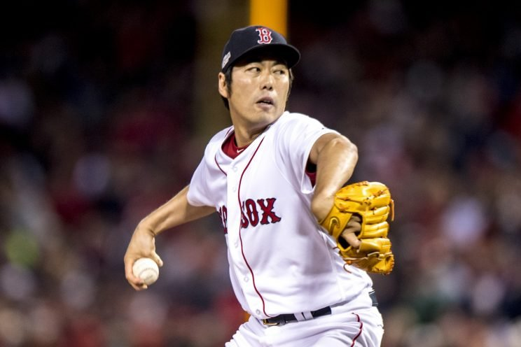 Koji Uehara will pitch for the Cubs in 2017. (Getty Images/Billie Weiss/Boston Red Sox)