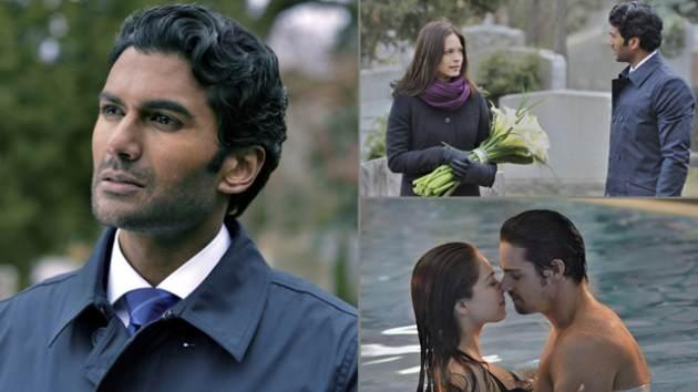 Sendhil Ramamurth in 'Beauty and The Beast' (left); A scene from this week's episode with Kristin Kreuk and Jay Ryan (bottom right) -- The CW