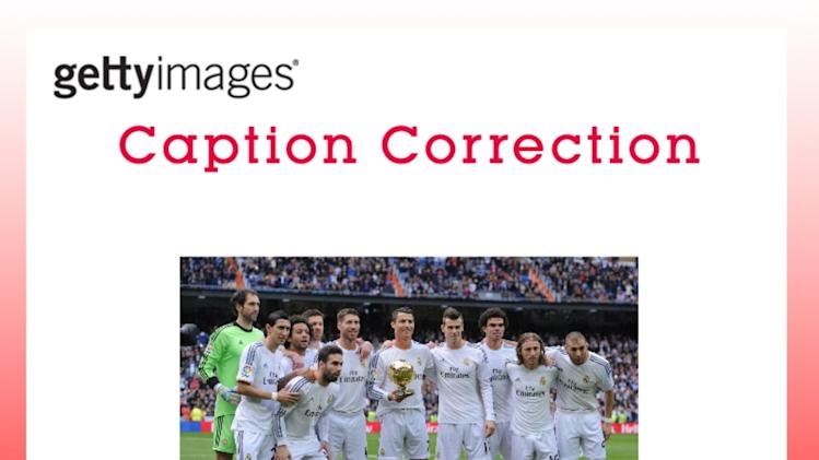 CAPTION CORRECTION: Real Madrid CF v Granada CF - La Liga