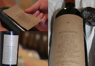 Meteorito, the space-aged wine