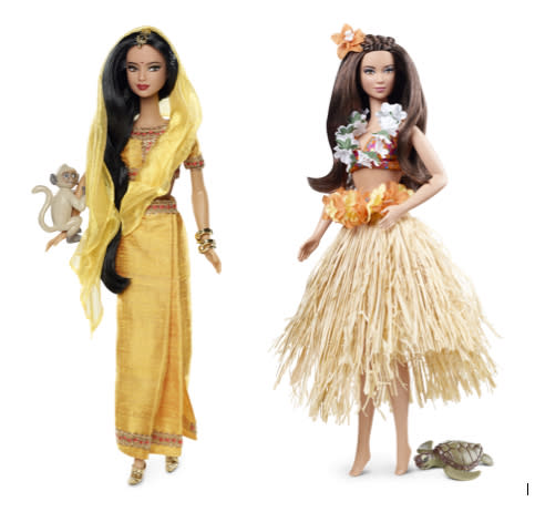 India Barbie and Hawaii Barbie