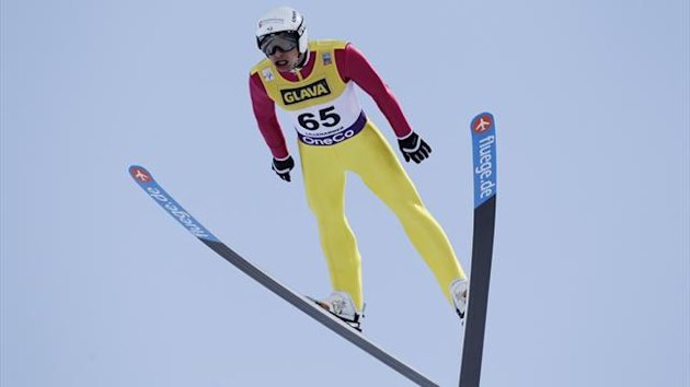 Jason Lamy-Chappuis at Lillehammer (AFP)