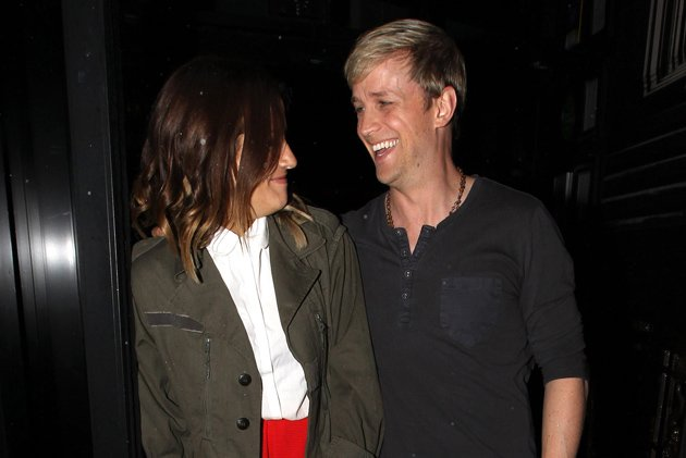 Caroline Flack and Kian Egan at X Factor auditions