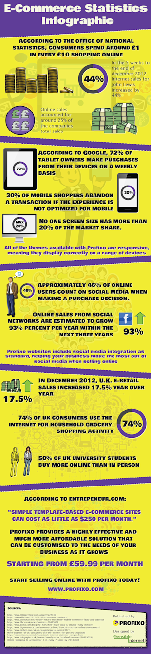 E Commerce Statistics Infographic image e commerce