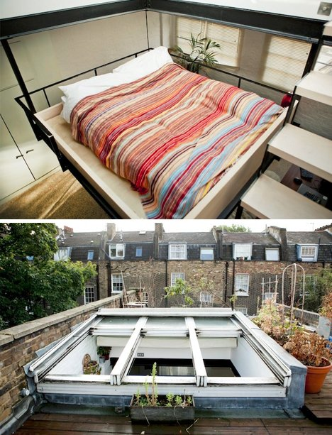 skylight bedroom roof deck