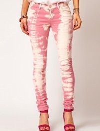 ASOS Skinny Jean in Over Bleached Pink