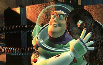 Buzz Lightyear is voiced by Tim Allen in Disney's Toy Story 2