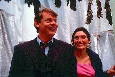 Martin Clunes as Dr. Bamford and Valerie Edmond as Nicky in Fine Line's Saving Grace