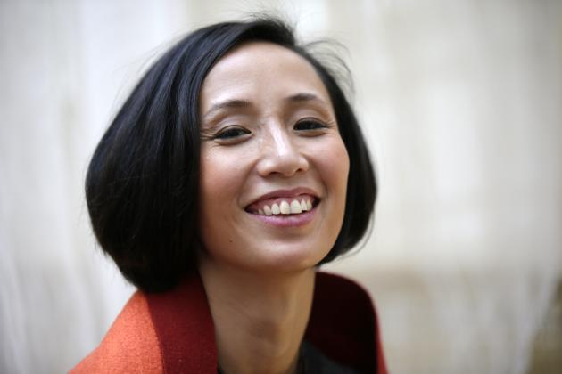 Jiang Qiong Er, Shang Xia's artistic director and chief executive, poses during a Chinese tea ceremony in Paris