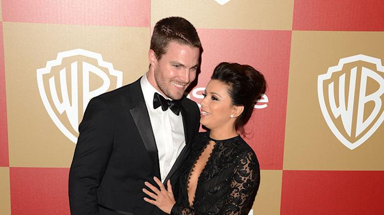 14th Annual Warner Bros. And InStyle Golden Globe Awards After Party - Arrivals: Stephen Amell and Eva Longoria