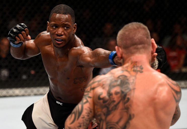 Will Brooks won a narrow decision over Ross Pearson in his UFC debut. (Getty)