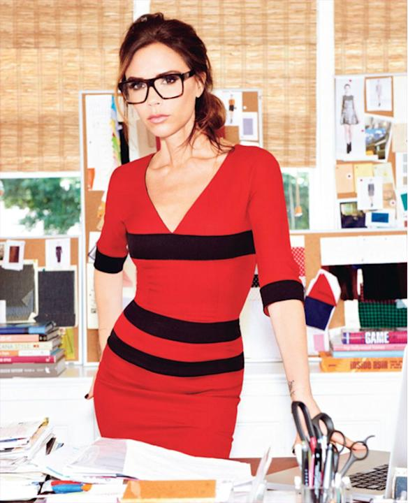 Celebrity Twitpics: Victoria Beckham already has an insanely popular fashion range, and now she's branching out into optical wear. The star tweeted this photo of herself in a pair of seriously chic gl