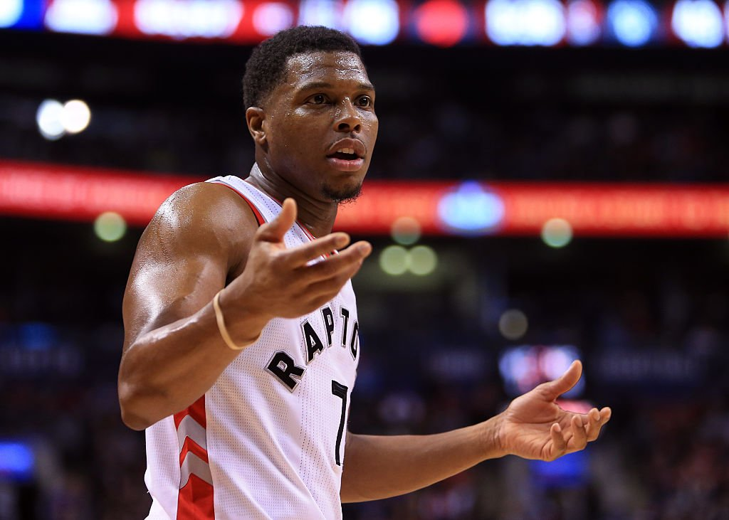Toronto Raptors star Kyle Lowry fell victim to a real-life robbery. (Getty Images)