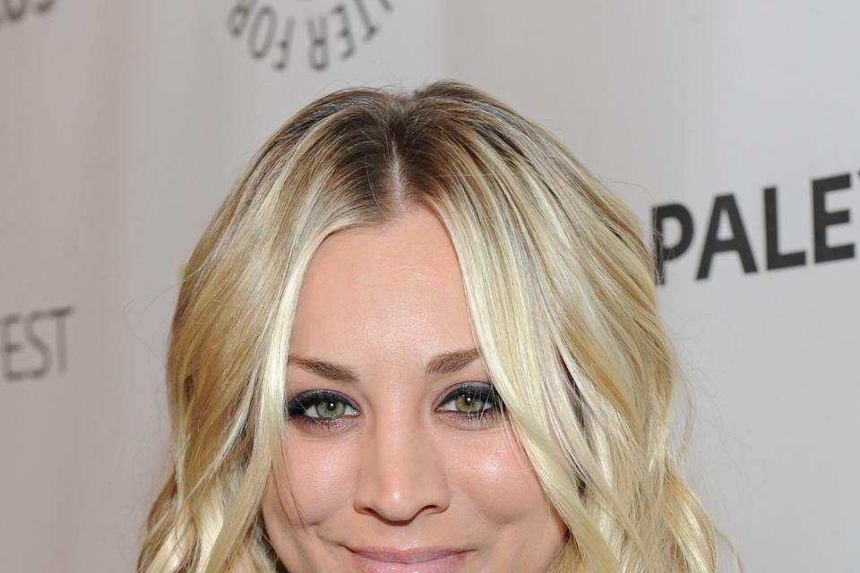 Kaley Cuoco  poses on arrival at the Paley Center for Media's PaleyFest, honoring The Big Bang Theory at the Saban Theatre, Wednesday March 13, 2013...