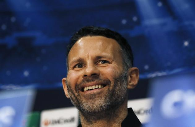 File photo of Ryan Giggs smiling during a news conference at Old Trafford