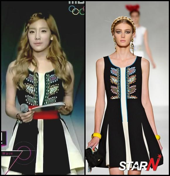 TaeYeon's beauty battle with a foreign model