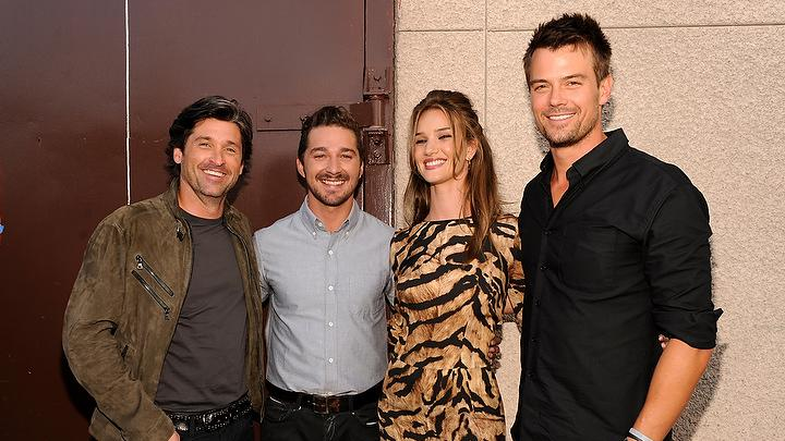 2011 MTV Movie Awards Backstage Patrick Dempsey Shia LaBeouf Rosie Hunington Whiteley Josh Duhamel