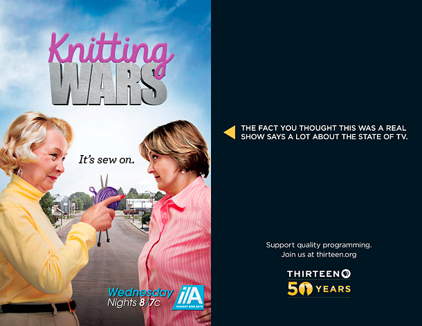 PBS Mocks Reality TV With Fake Shows 'Knitting Wars,' 'Married to a Mime'