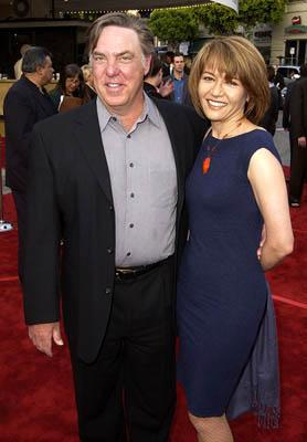 Bruce McGill and wife at the LA premiere of Paramount's The Sum of All Fears