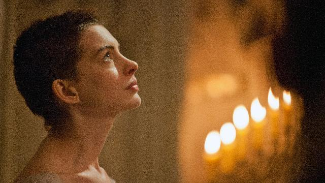 "This film image released by Universal Pictures shows actress Anne Hathaway portraying Fantine, a struggling, sickly mother forced into prostitution in 1800s Paris, in a scene from the screen adaptation of ""Les Miserables.""  (AP Photo/Universal Pictures, Laurie Sparham)"