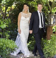 The bride wore a $4,700 Claire Pettibone dress… but all eyes weren't on Priscilla Chan's wedding gown: they were on Mark Zuckerberg's suit - proof the man