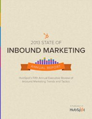 Lessons from HubSpot's State of Inbound Marketing Report image HubSpot 2013 Inbound Market
