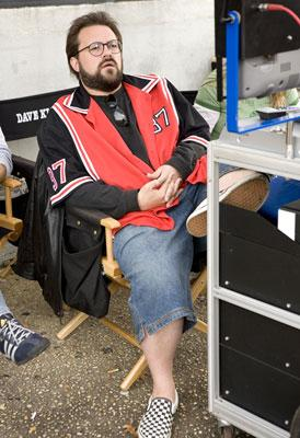 Writer/director Kevin Smith on the set of The Weinstein Company's Clerks II