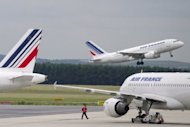 This file photo shows Air France planes at the Roissy-Charles de Gaulle airport outside Paris on June 1. Airline industry group IATA warned on Monday global profits would more than halve this year owing to surging oil prices and the eurozone crisis, with European carriers suffering losses of $1.1 billion