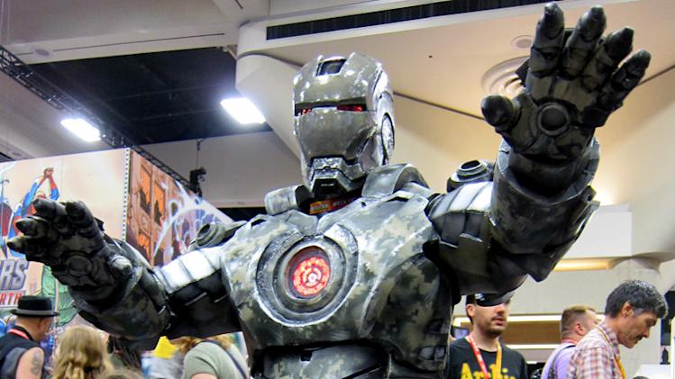 This armor looks like it's seen some action - San Diego Comic-Con 2012
