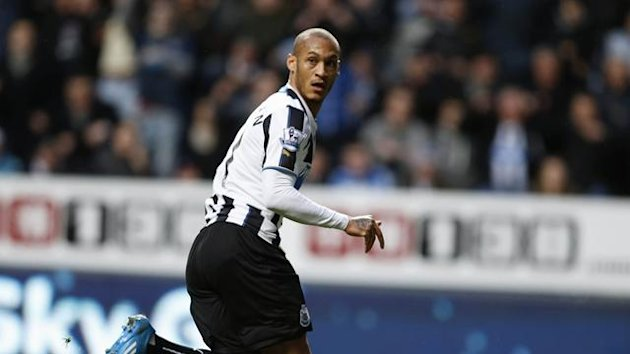 Yoan Gouffran celebrates scoring for Newcastle against Southampton (Reuters)