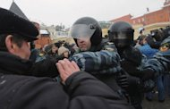 Russian police clash with protesters in Moscow. Thousands of Russians linked hands around Moscow on Sunday in a protest against Prime Minister Vladimir Putin's expected return to the Kremlin for a third term in elections next weekend