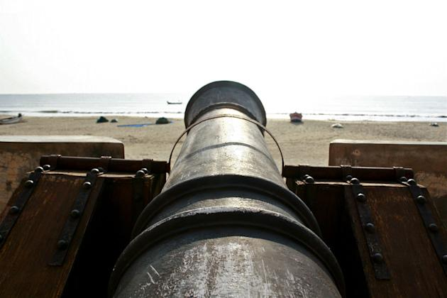 Tranquebar: Cannons at Fort Dansborg