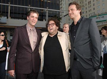 Director Nicholas Stoller , Jonah Hill and Jason Segel at the Los Angeles premiere of Universal Pictures' Forgetting Sarah Marshall
