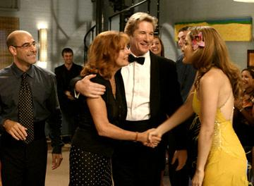 Stanley Tucci , Susan Sarandon , Richard Gere and Jennifer Lopez in Miramax's Shall We Dance?