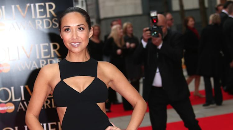 Myleene Klass seen at the Olivier Awards 2013 at the Royal opera House in London on Sunday, April 28th, 2013. (Photo by Joel Ryan/Invision/AP)