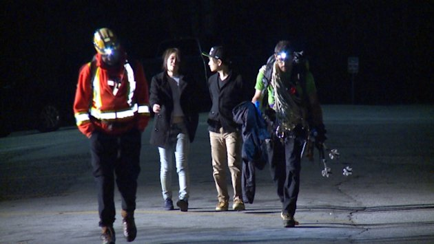 1st date ends in technical rope rescue on Grouse Mountain.