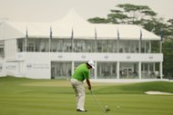 SHENZHEN, CHINA - APRIL 25: Jason Dufner of the United States in action during round two of the 2014 Volvo China Open at Genzon Golf Club on April 25, 2014 in Shenzhen, China. (Photo by Ian Walton/Getty Images)