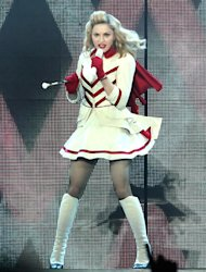 Madonna ditches swastika footage for France concert