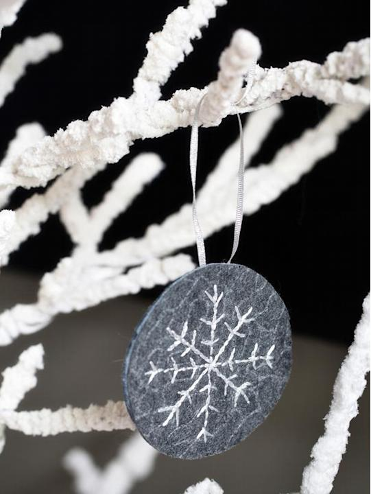 Felt-and-Thread Snowflake