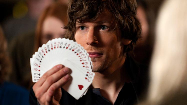 "This film image released by Summit Entertainment shows Jesse Eisenberg in a scene from ""Now You See Me."" (AP Photo/ Summit Entertainment, Barry Wetcher)"