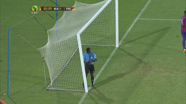 African Cup of Nations - Broken goal holds up Togo v Algeria